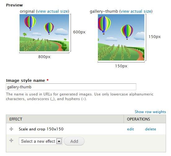Create image style